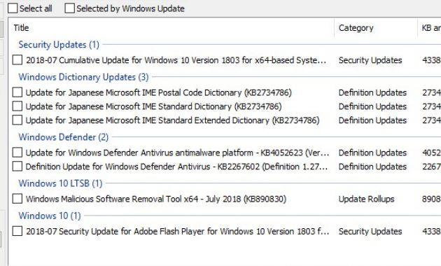 Install Optional Updates in Windows 10