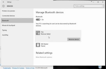 Windows 10 Stuck Removing Bluetooth Device