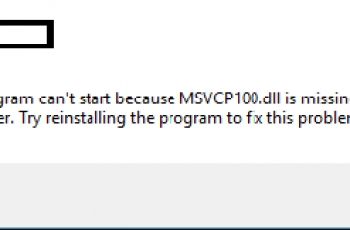 Msvcp100.dll is Missing Windows 10